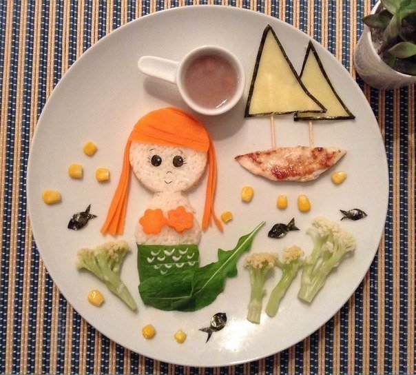food mermaid