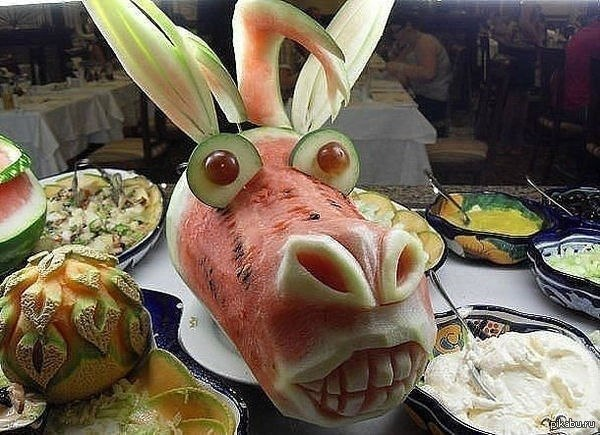 donkeyFruit and Vegetable Carving