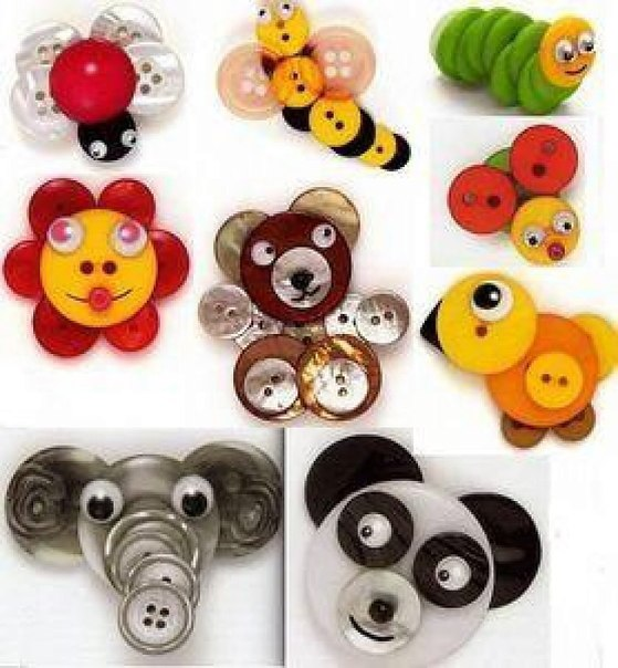 Crafts from buttons (3)